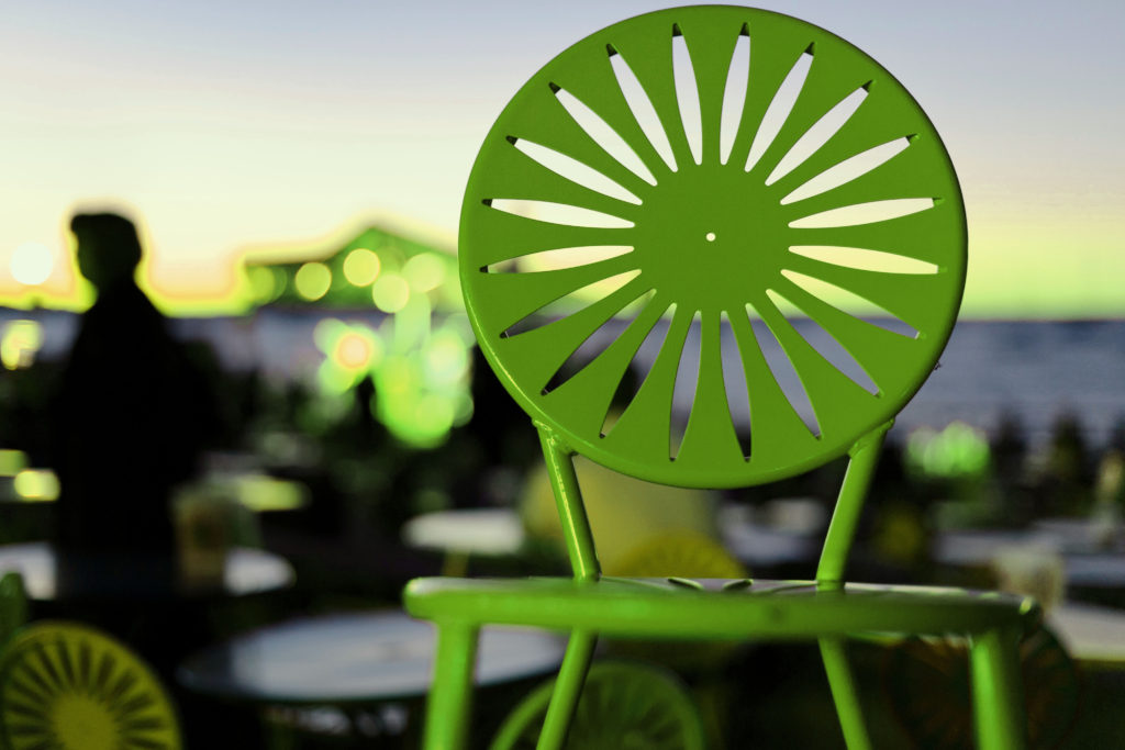 Green terrace Chair